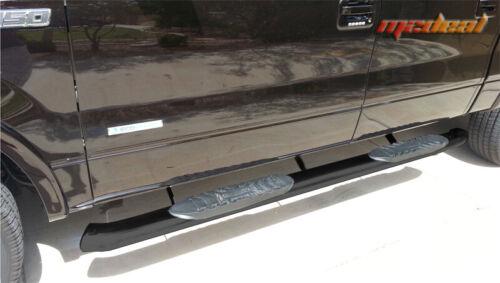 TYGER 5/'/' bend black side step bars Fit 09-14 Ford F150 Supercrew Cab