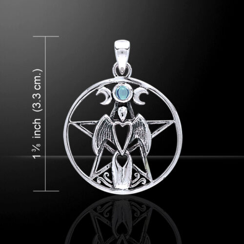 Guardian Angel Triple Moon Pentacle .925 Sterling Silver Pendant by Peter Stone