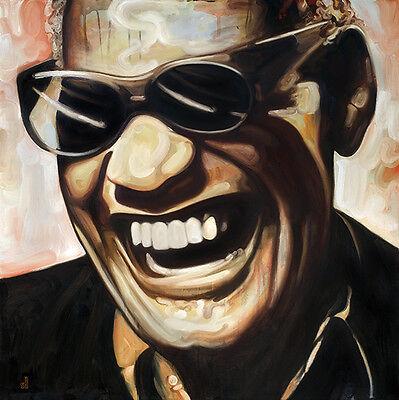 Portrait of Ray Charles Fine Art Print 8x10 Giclee Signed Soul Blues Music R/&B