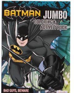 DC Comics Batman Boys Jumbo Coloring And Activity Book Set Of 2