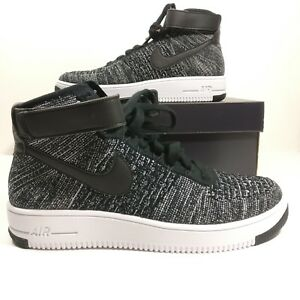 Details about Mens Nike Air Force 1 Ultra Flyknit Mid Oreo Shoes 817420 004 Mutli Size