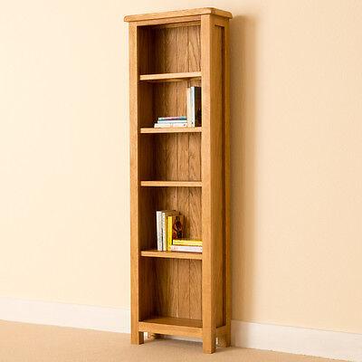 Lanner - Oak Narrow Bookcase / Shelving / Rustic Oak Tall Handcrafted Bookshelf