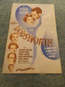 DODSWORTH-R-40-039-S-WALTER-HUSTON-MARY-ASTOR-ORIGINAL-PRESSBOOK