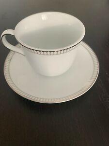 6 x Royal Doulton Paramount Platinum Cup and Saucer