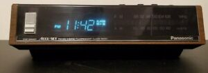 Vintage-Panasonic-AM-FM-Digital-Alarm-Clock-Radio-RC-6140-Tested-Great-Shape