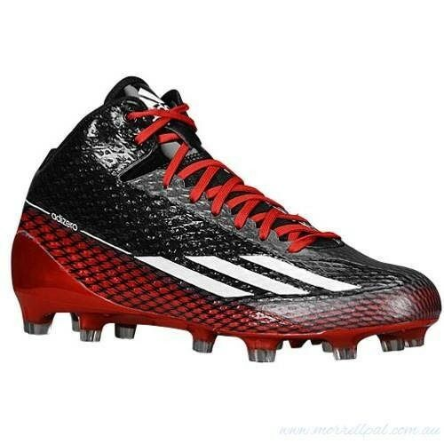 Mens adidas Adizero 5 Star 3.0 Mid Football Cleats Sz 13 Black Red G99463  for sale online  e67d8015f