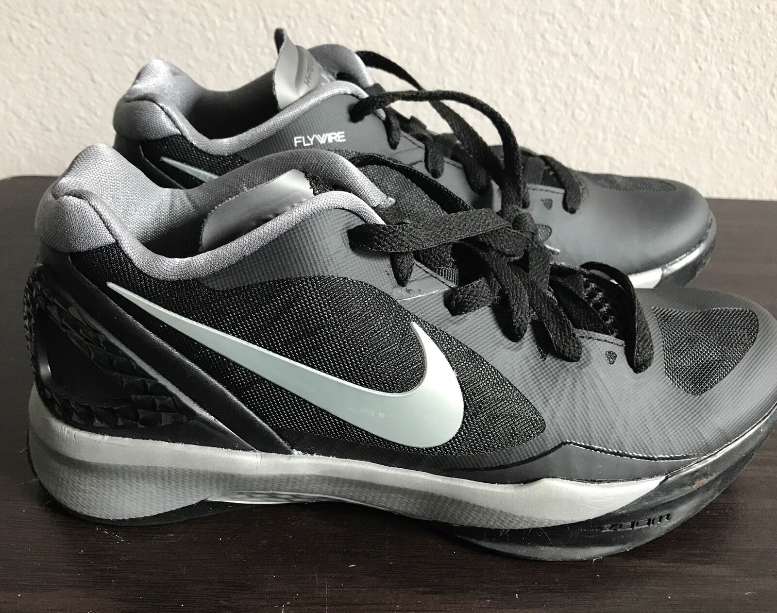 Nike Womens Volley Zoom Hyperspike Volleyball 585763-001 Black Silver Size 11