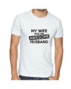 Genial-Mari-T-Shirt-Drole-Cadeau-Homme-Blague-Slogan-Femme-Nouveaute-tee-presents
