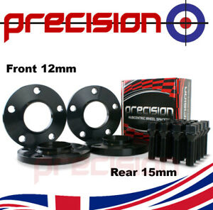 Staggered-Black-Wheel-Spacers-12mm-and-15mm-with-Bolts-for-BMW-4-Series-2011-On