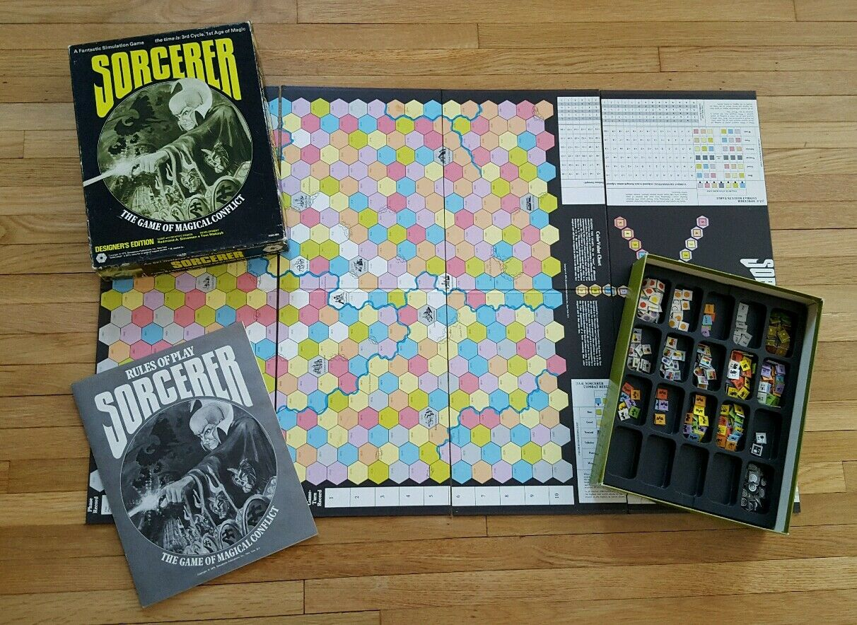 Sorcerer  The Game of Magical Conflict (Board Game, Designer's Edition) RARE OOP