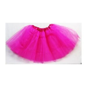 Calidad-Mujer-Nina-Falda-Tutu-elegante-falda-disfraz-fiesta-3-Capas-Rosa