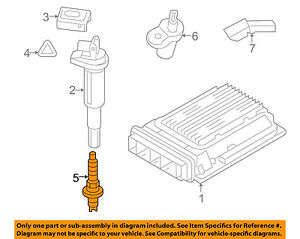 BMW-OEM-08-11-X6-4-4L-V8-Ignition-Spark-Plug-12120037580