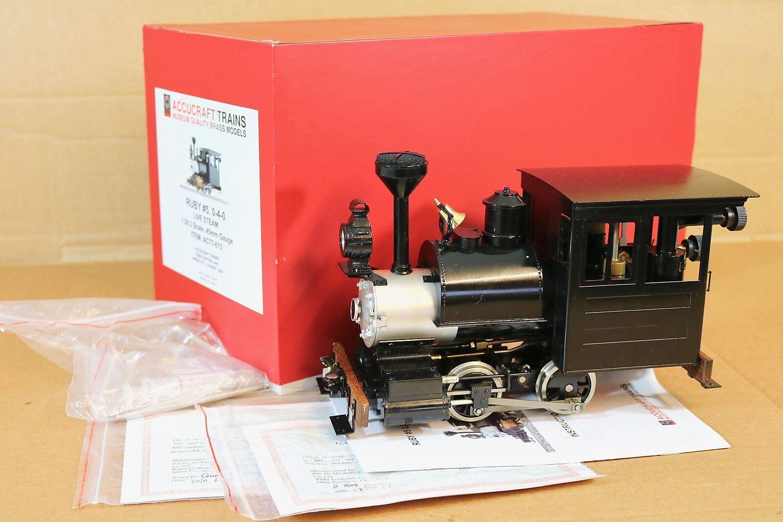 Accucraft dampfs g - 0-4-0 baldwin lokomotive ruby 5 boxed np