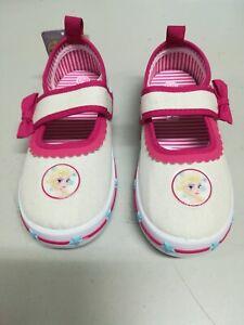 Scarpe-Bambina-Disney-Frozen-Chiusura-a-Strappo-Colore-Bianco-Rosa-Bimba