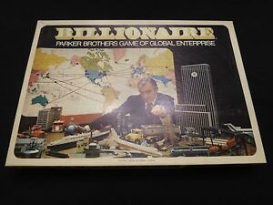 BILLIONAIRE GAME OF GLOBAL ENTERPRISE 1973 PARKER BROTHERS COMPLETE