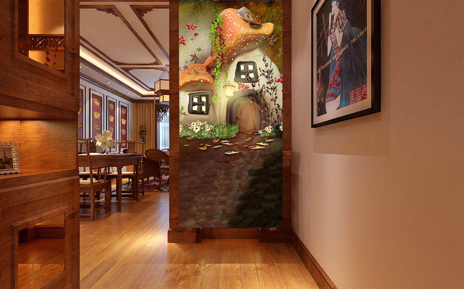 3D House Paint 505 Wallpaper Murals Wall Print Wall Mural AJ WALL AU Summer