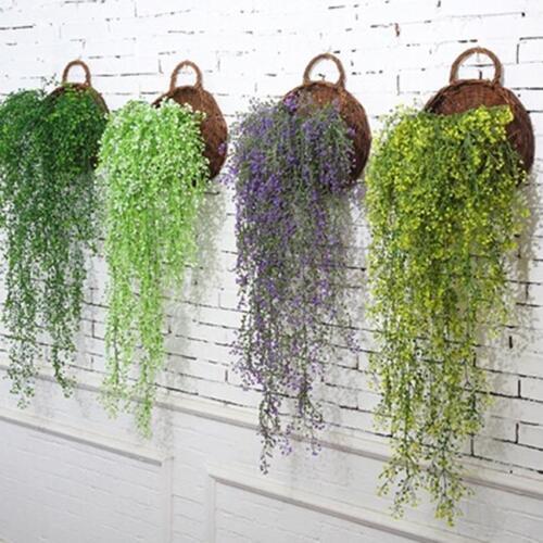 Artificial Hanging Ivy Vine Leaf Fake Foliage Flowers Home Garland Decor JD