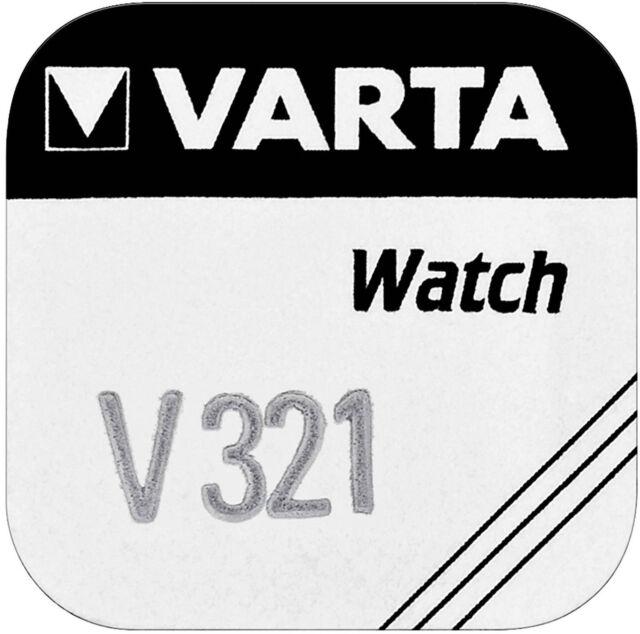 2x VARTA Watch V 321 Uhrenzelle Knopfzelle SR616 SW V321 Uhrenbatterie 1er BL