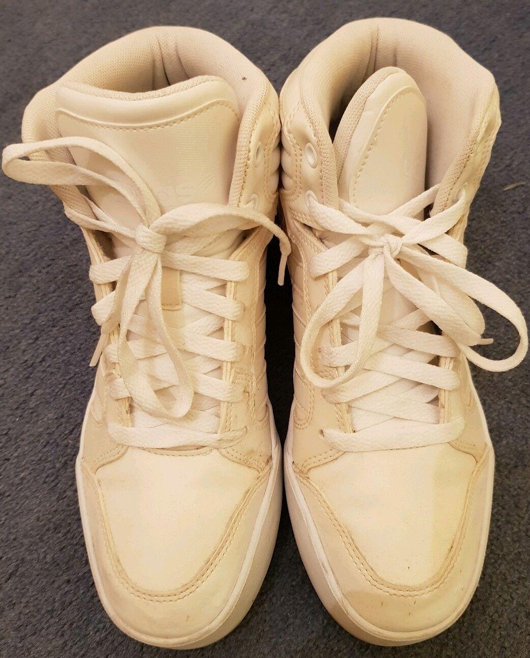 Adidas blanc blanc cassé Baskets-Taille UK 6