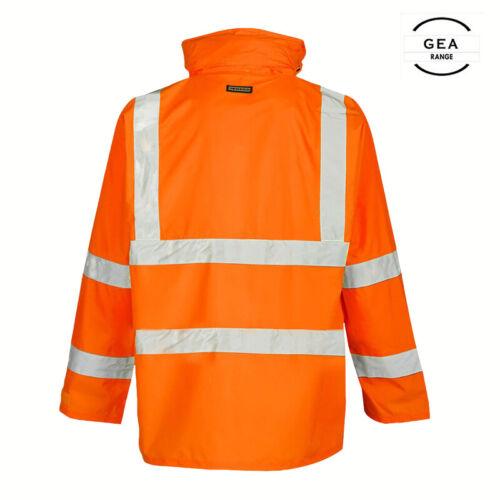 Hi Vis Viz visibilité Work Wear Sécurité Imperméable Combinaison De Pluie Wear Veste Pantalon