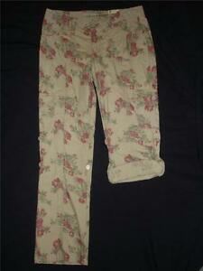 f17a96e7f3c NWT Arizona Jean Co Khaki Cargo Pants Capris Girls 14 1 2 Plus Size ...