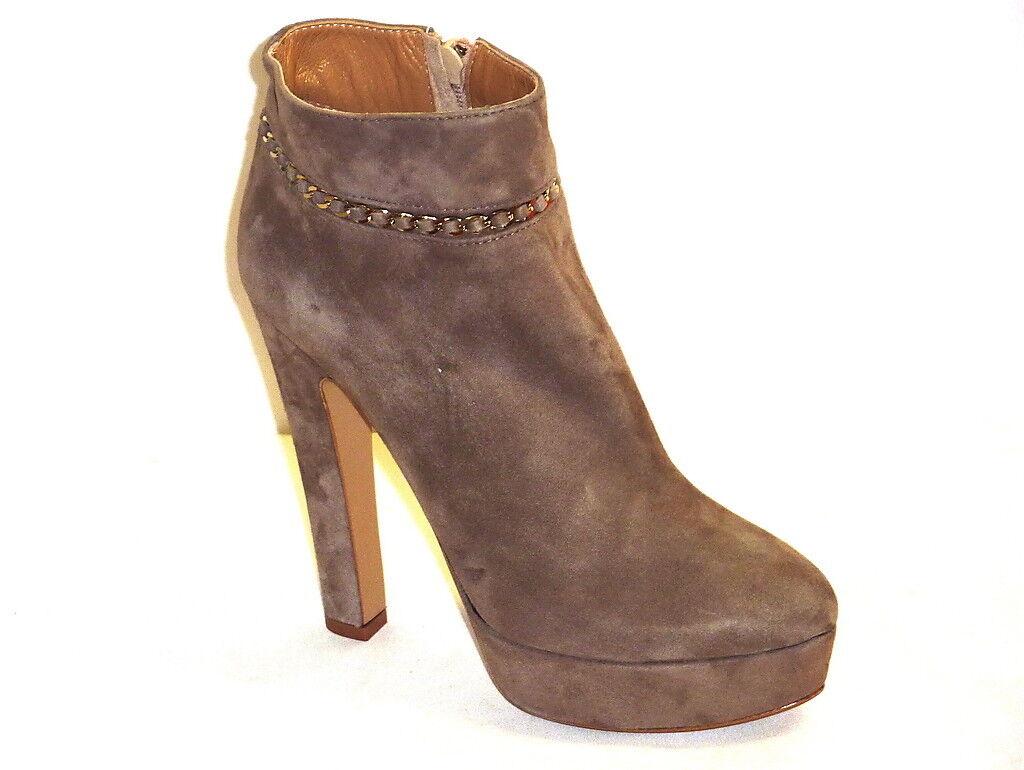 Grandes zapatos con descuento STIVALI DONNA TRONCHETTO CAMOSCIO NOCCIOLA PLATEAU TACCHI ALTI ALLA MODA n. 35