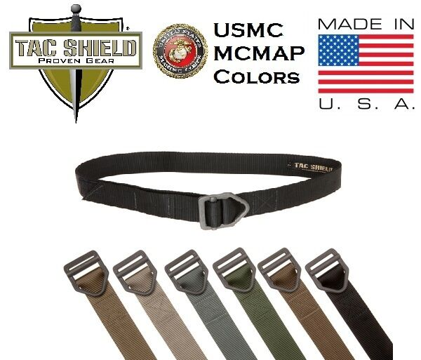 Tac Shield Tactical Rigger Reinforced Belt USMC MCMAP Hiking Military Duty USA