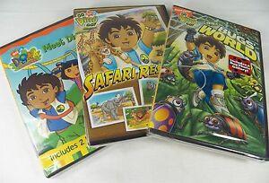 Set-3-DVD-Dora-Explorer-Meet-Diego-Safari-Rescue-Bugs-World-Photo-Gallery-Sealed