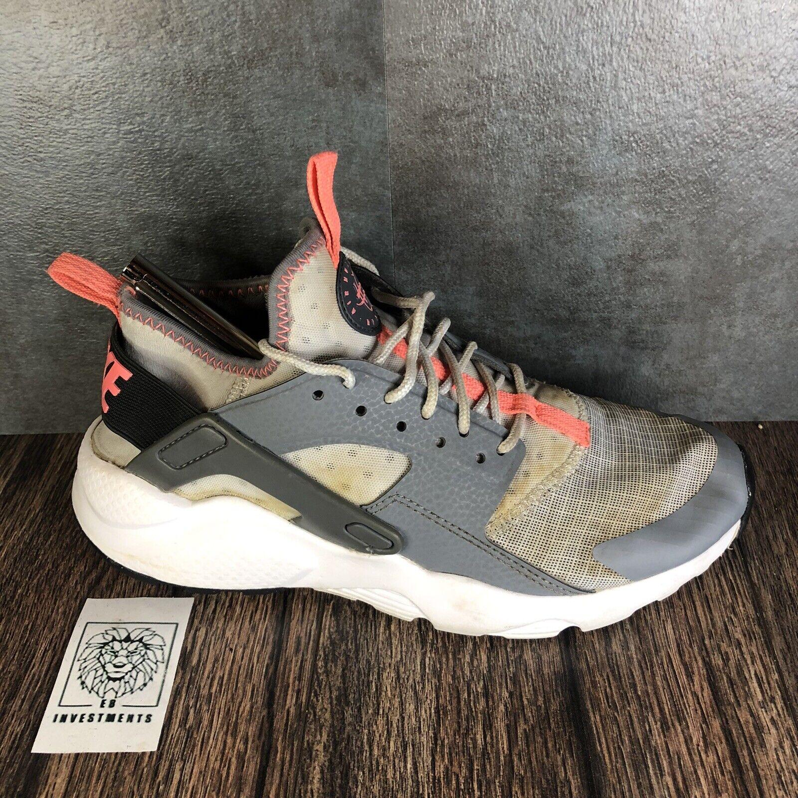 Nike Girls Air Huarache Run Ultra 847568-005 Gray Pink Sneaker Shoes Size 4y
