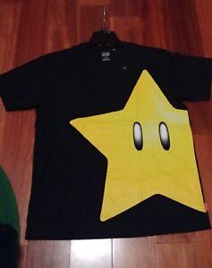 NEW-Men-039-s-Uniqlo-Nintendo-Mario-Super-Star-UTGP-Graphic-T-shirt-100-Cotton-M