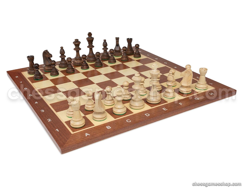Wooden Chess Set Tournament 5 Staunton-Chess Board 19  + 3,5  Pièces d'échecs