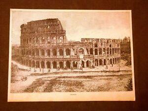 Incisione-del-1891-Roma-Il-Colosseo-Lazio