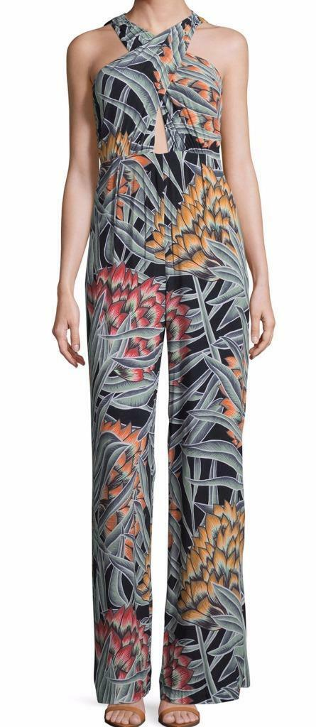 New with Tag -  Mara Hoffman Herbarium Charcoal Cross Front Jumpsuit Size 2