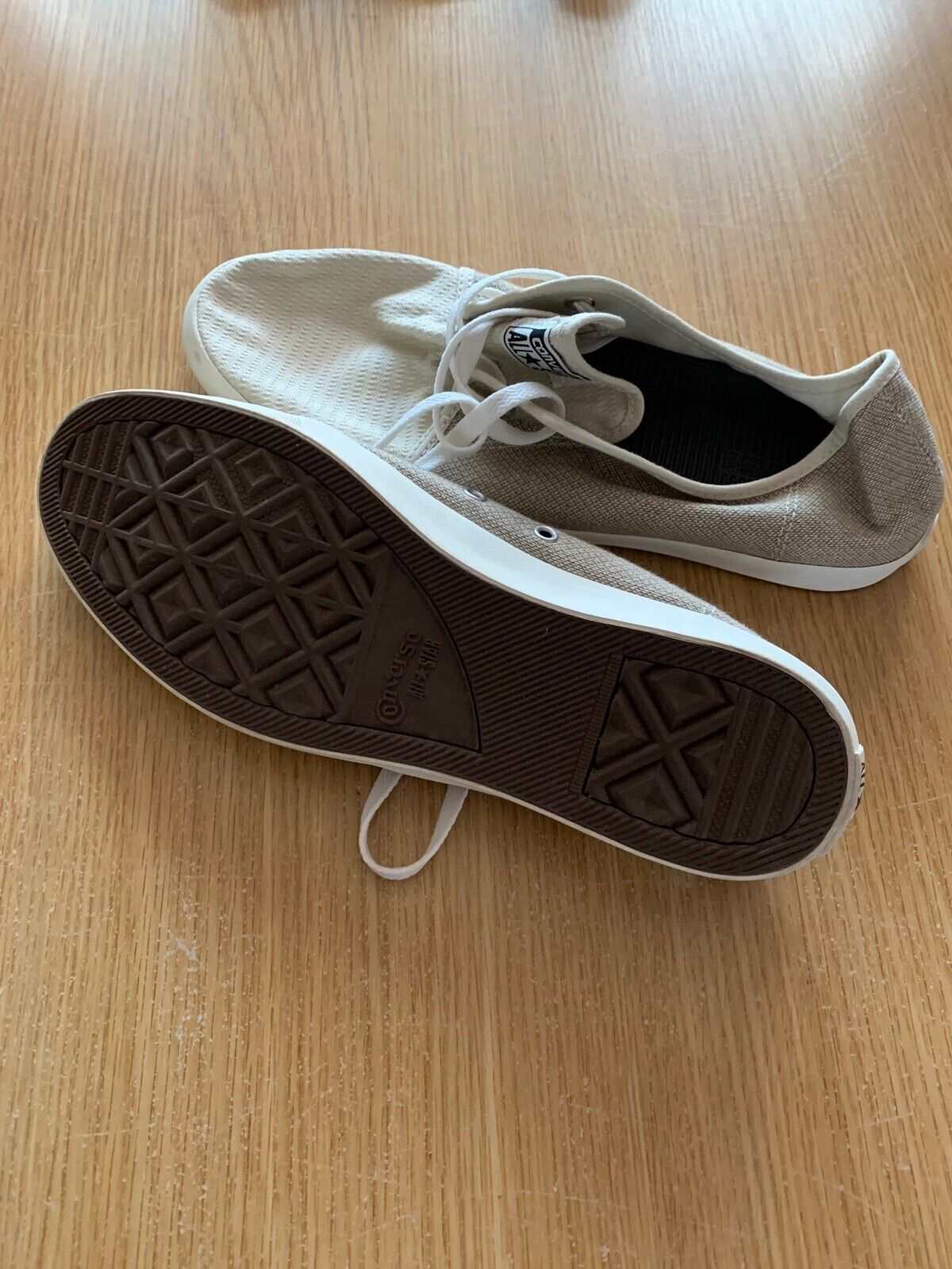 Converse All Star Beige Canvass Shoes - Size 10