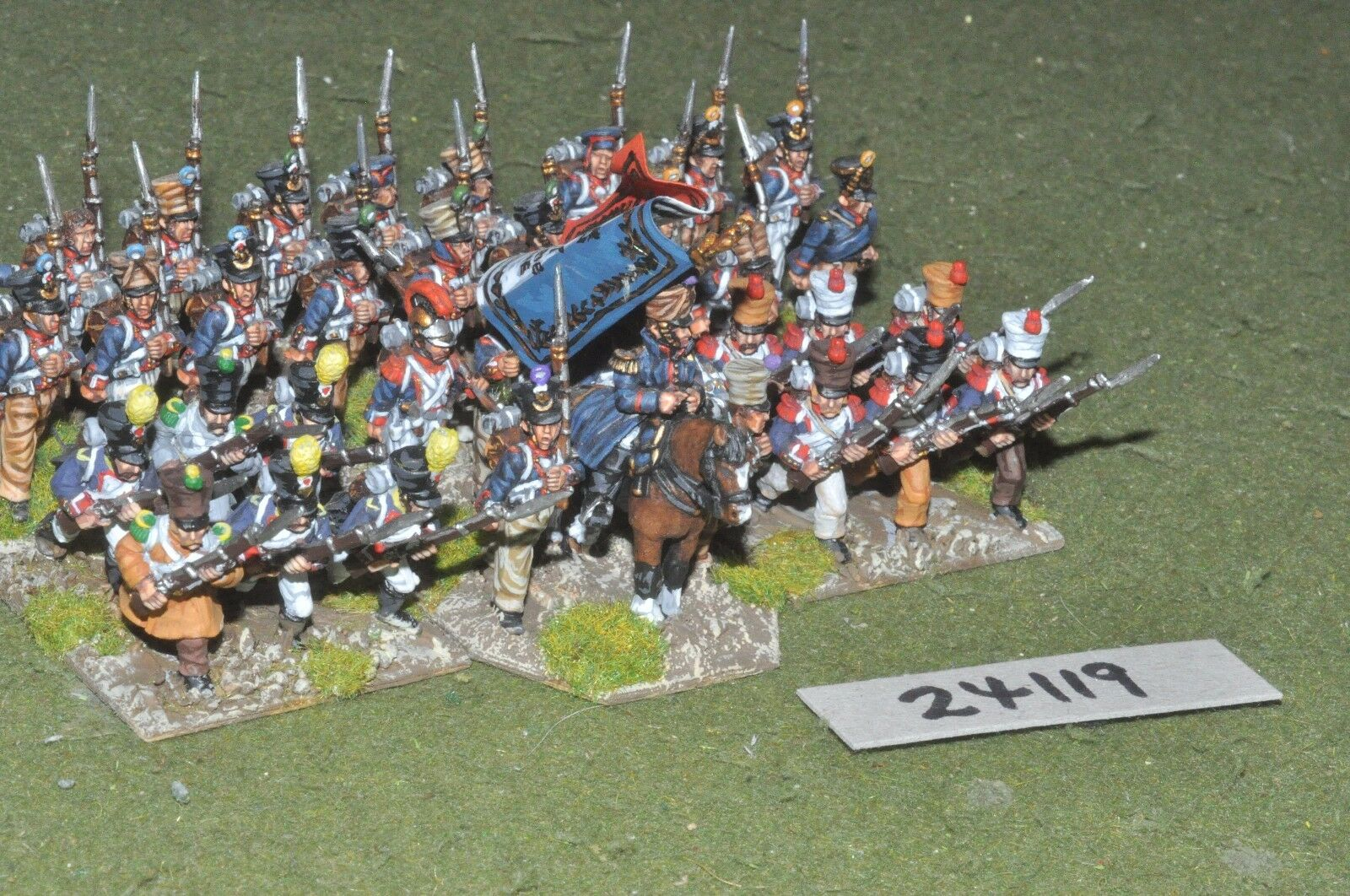 25mm napoleonic   french - line 36 figures - inf (24119)