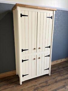 Details About Rustic Pine And Oak Kitchen Freestanding Unit Pantry Larder Storage Cupboard