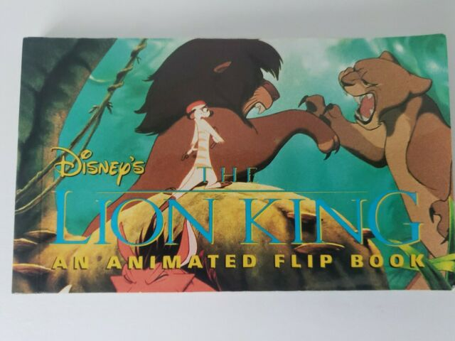 Disney The Lion King Animated flipbook. Hard to find 1994 RARE!!