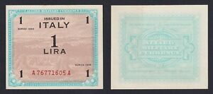 Italy-1-Lyre-Occupation-American-1943-Fds-Unc-C-10