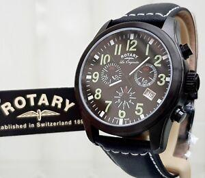 Herren-Rotary-Swiss-made-Les-je-Uhr-Chronograph-UVP-280-ideales-Geschenk