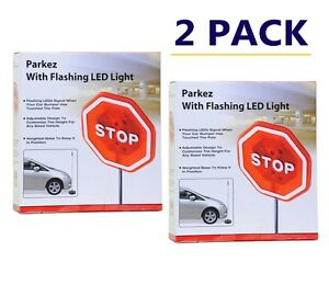 2 Pack Set Flashing Led Light Parking Stop Sign Safety