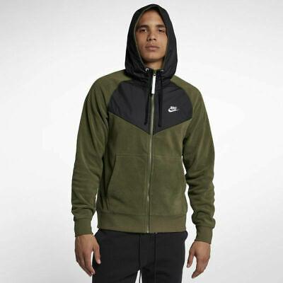 NEW Sz XXL Men's Nike Sportswear Fleece Full Zip Hoodie JDI Olive 931900-395