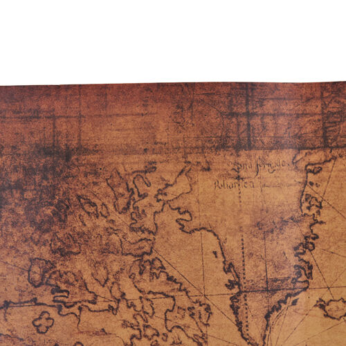Large Vintage Style Retro Paper Poster Globe Old World Map Gifts 72x51cm SP