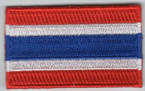 Thailand Flag Patch Embroidered Iron On Applique Thai