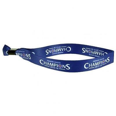 Leciester City FC Premier League Champions Blue Wristband Bracelet Fan Official