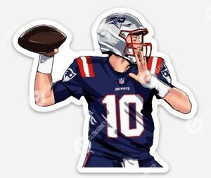Mac Jones STICKER - Rookie New England Patriots Quarterback NFL QB Patriot