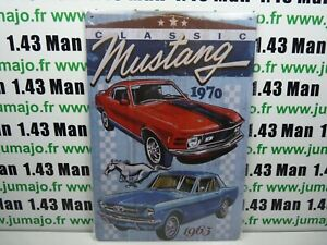 PA75F PLAQUES TOLEE vintage 20 X 30 cm Ford Mustang Londres