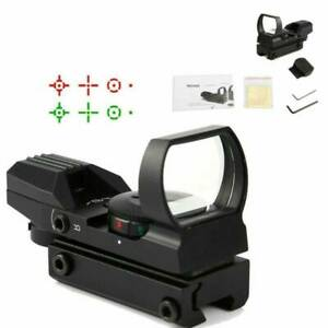 Red-Dot-Sight-Reflex-Green-Holographic-Scope-Tactical-Rifle-Mount-20mm-Rails