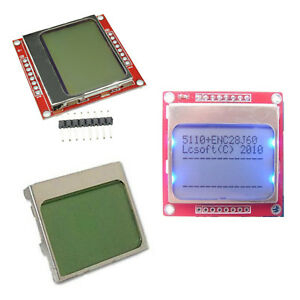Details about DIY White/Blue 84 * 48 Nokia 5110 LCD Display Screen Module  Module for Arduino