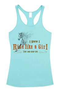 HEELS-DOWN-CLOTHING-RIDE-LIKE-A-GIRL-SINGLET-ALL-SIZES-AVAIL