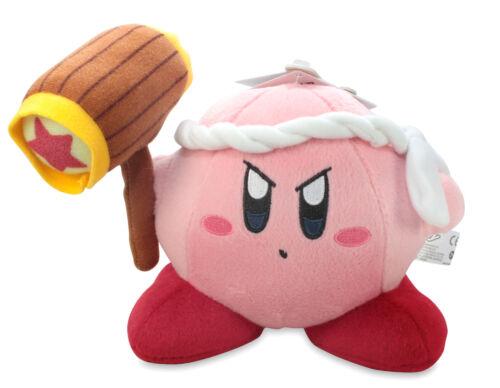"REAL NEW  Super Mario 1321 Little Buddy 6/""  Hammer Kirby Stuffed Plush Doll"